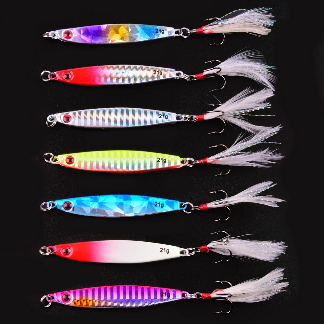 10//14g//22//28g Metal Fishing Lure Fishing Hook Spinner Spoon Bait for Trout Pike