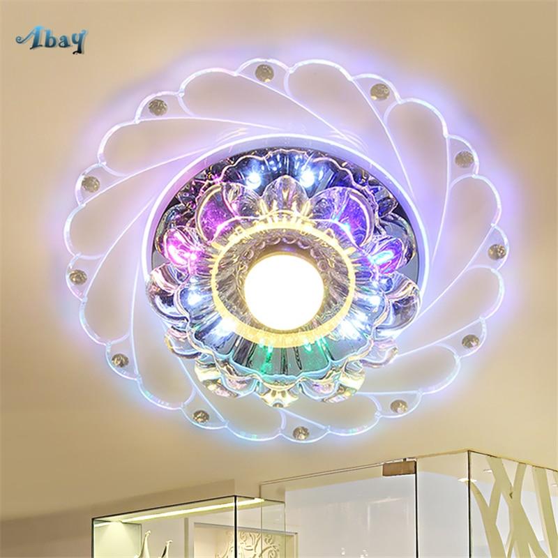 Modern Led Crystal Ceiling Light Multi Color Flowers Shape Home Decor Ceiling Lamp Crystal Flush Mount Ceiling Light Fixture Ceiling Lights Aliexpress