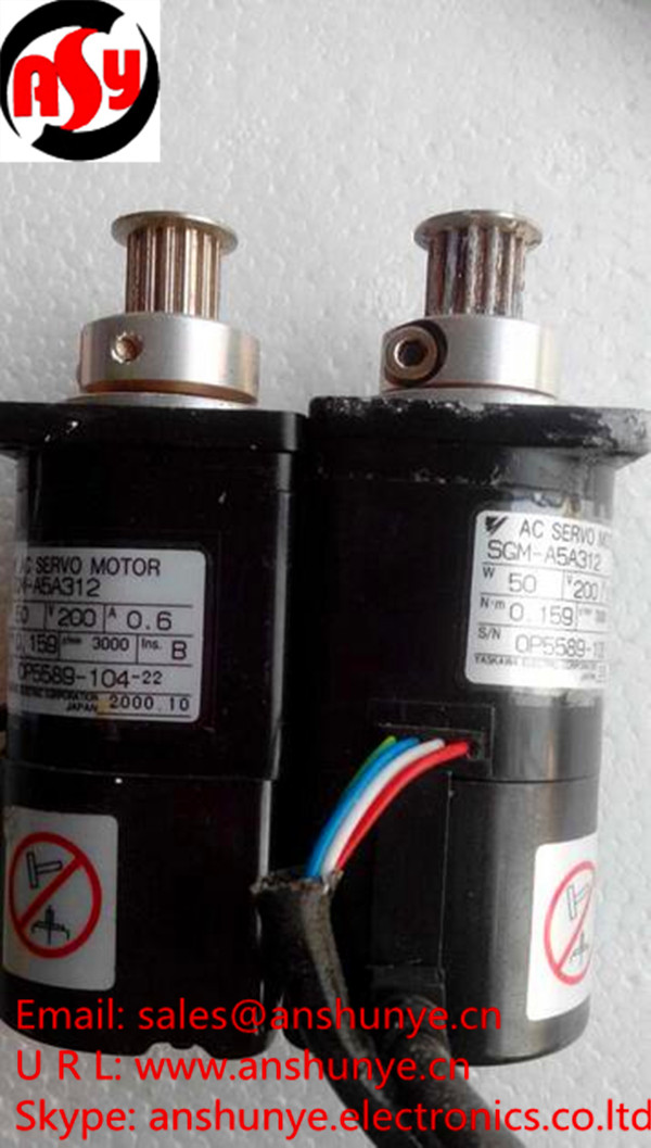 YASKAWA AC Servo Motor SGM-A5A312 ,Second Hand Looks Like new Tested Working yaskawa ac servo motor sgm a5a3nt14 second hand looks like new tested working