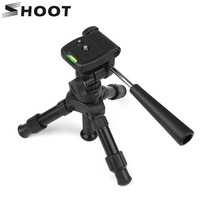 SHOOT Aluminum Portable Camera Tripod Stand Flexible 3 Way Macro Shooting Mini Table Tripod For Canon