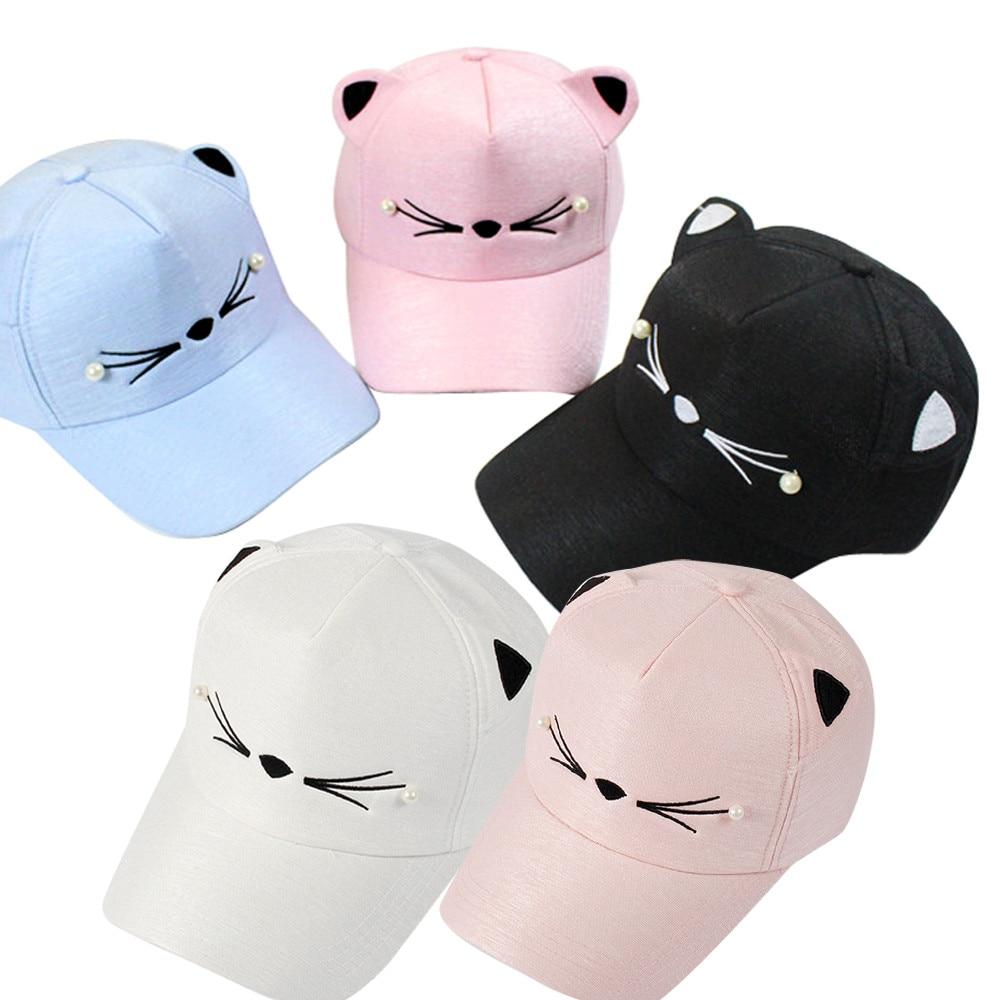 Visor Tide Pearl Wild Cute For Women 2018 NEW Fashion Student Cat Ears Pokemon Stranger things Spring   Baseball     Cap   Hats 2019 Spr