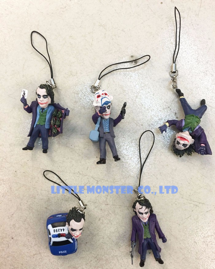 5pcs/set DC Superhero Batman The Dark Knight The Joker Mini PVC Action Figure Collection ...