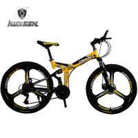 KUBEEN DLANT Mountain Bike 26 Inch Steel 21 Speed Bicycles Dual Disc Brakes Variable Speed Road