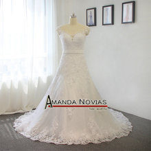 Amanda Chen A-line wedding dress floor length wedding dress