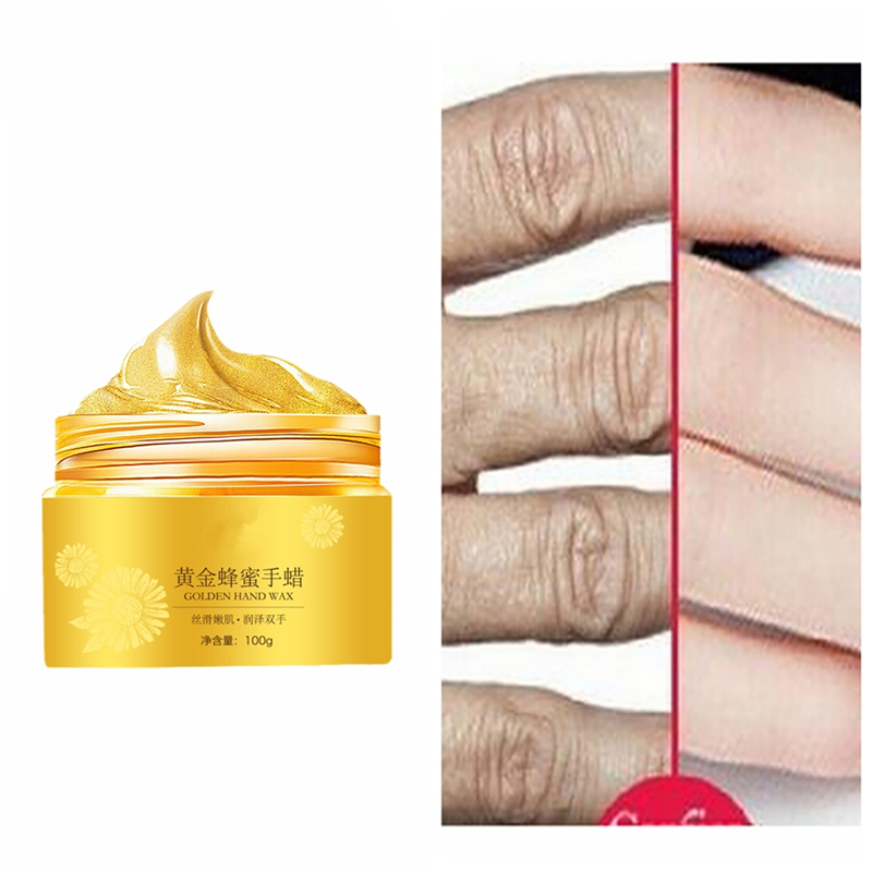 Gold Collagen Hand Mask Hydrating Moisturizing Skin Moisturizing Anti-drying Hand Mask Film Men And Women Autumn And Winter