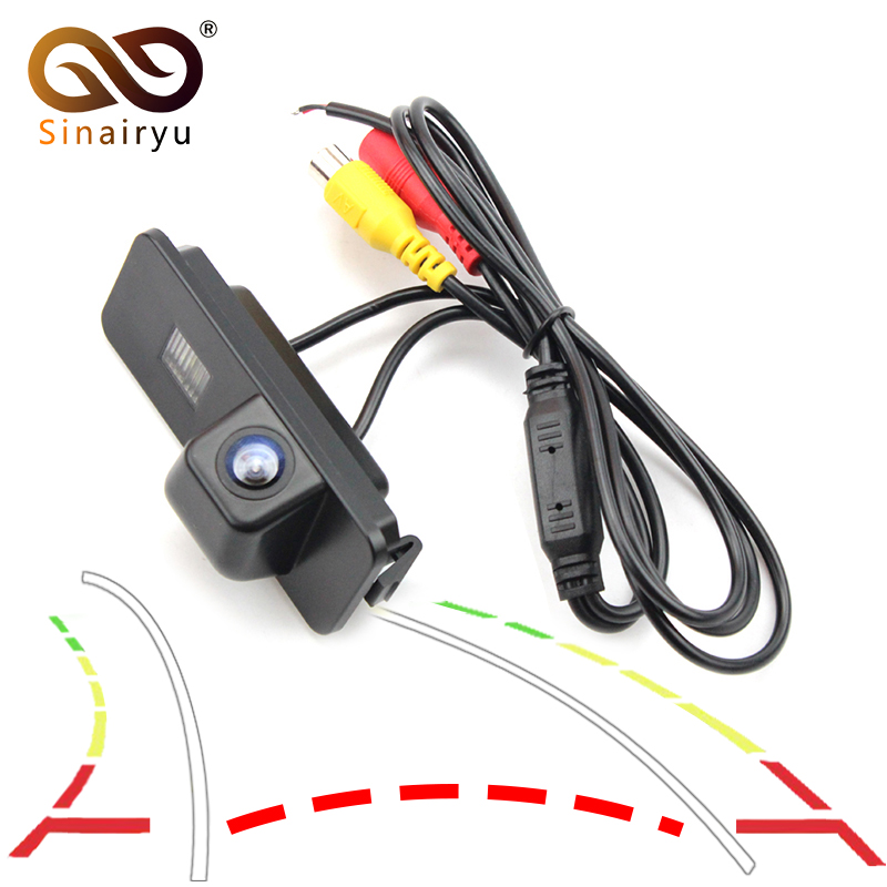 Sinairyu Auto Reversing Trajectory Tracks Car Rear View Reversing Camera For VW Passat B6 Polo CC Golf 6 New Jetta free shipping ccd car trajectory reversing rear view camera for vw golf mk4 mk5 jetta passat cc b6 beetle bora scirocco superb