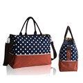 Nappy Diaper Bag Shoulder Mummy Handbag High Quality Dot Maternity Mother Stroller Bag Multifunctional Baby Bags Blue