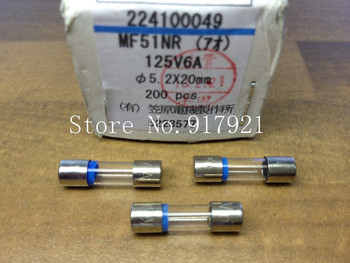 [ZOB] The original Japanese MF51NR 6A 125V Kasahara imported color ring glass tube fuse 5X20 FUSE  --200PCS/LOT