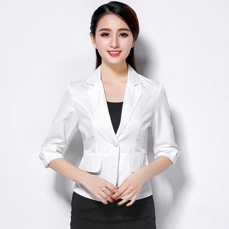 Женский пиджак верхняя одежда 2017 весной и осенью женщин костюм тонкий дизайн женщины blazer белый костюм мода куртка пальто femme mz697