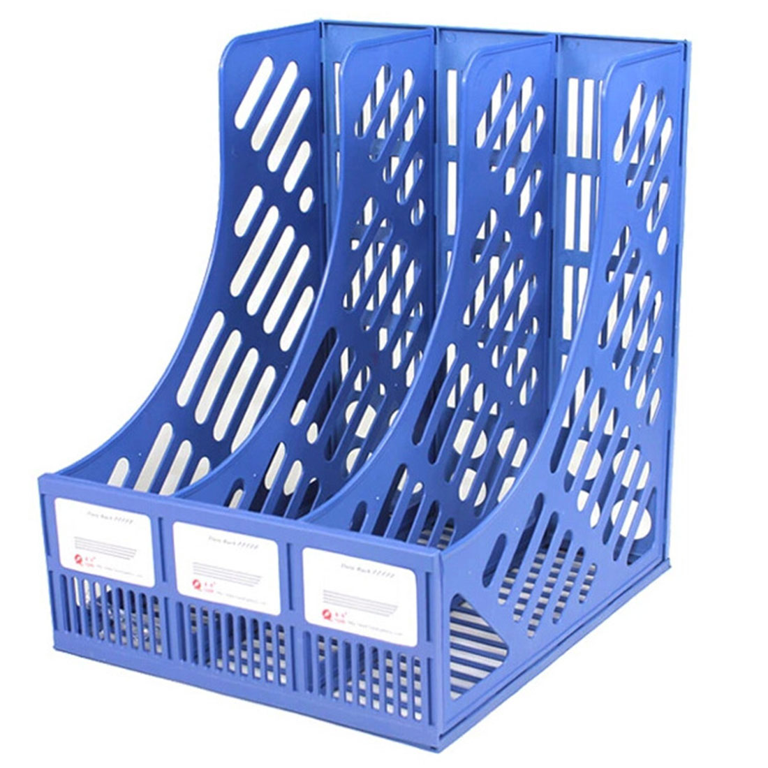 Three-grids Plastic File Storage Box Office Study Desktop Organizer for The Office Shelf for Books Documents