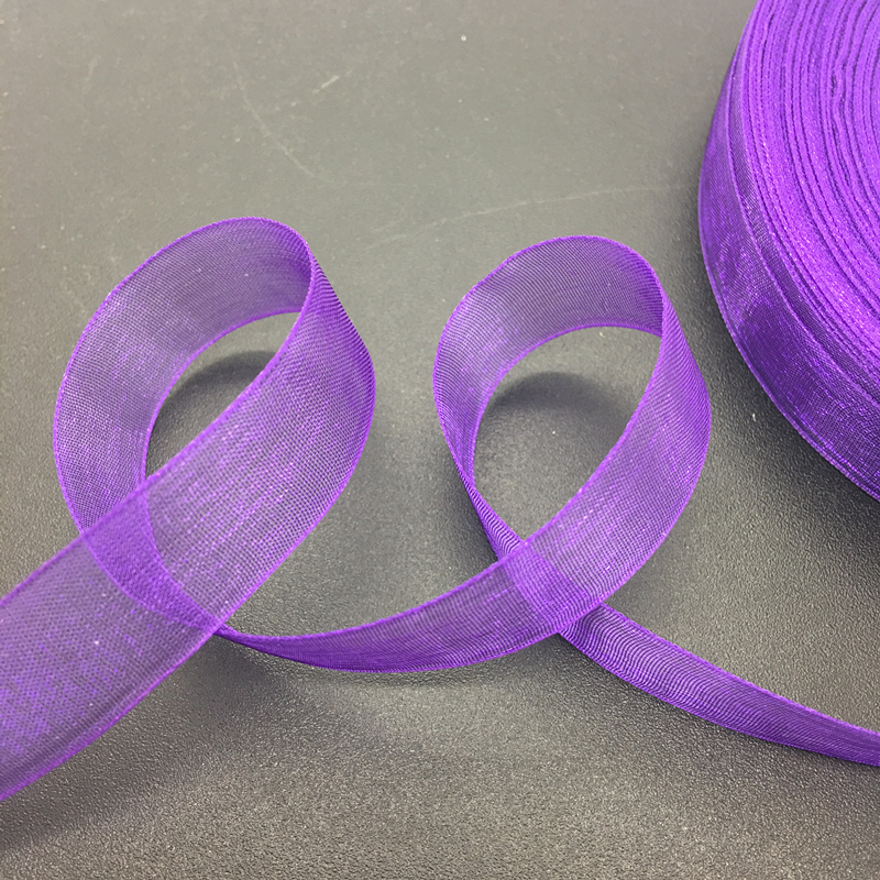 50 ярдов/рулон 5/8 «15 мм Фиолетовый органзы ленты лук Свадебные украшения Кружево ремесла
