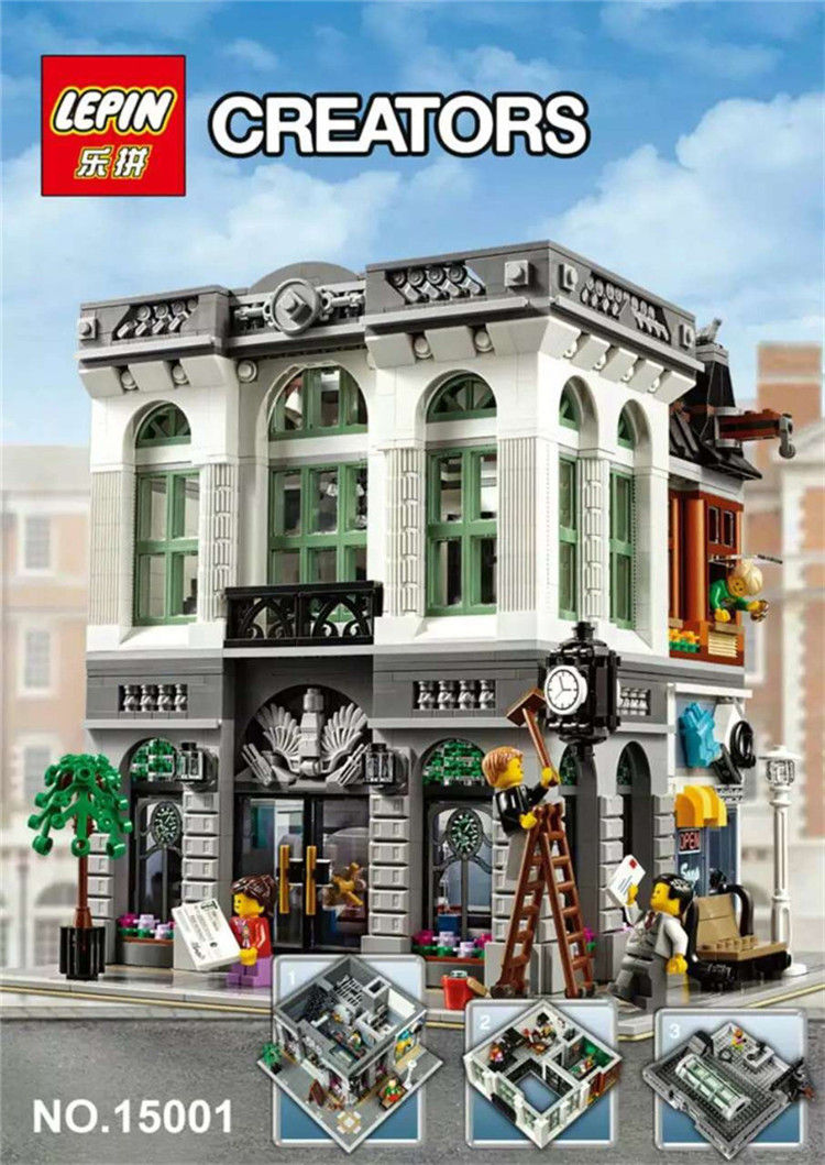 <font><b>DHL</b></font> Lepin 15001 Creators Self-locking Building Brick Model Kits Minifigure Blocks Bricks Toy