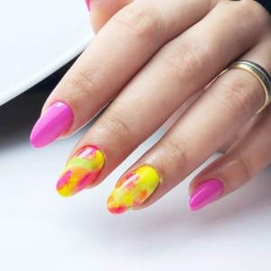 Image 2 - 12 Colors /Set Neon Pigments For Nails Powder Glitter Fluorescent Dust Gradient Pigments Manicure Neon PowderFor Nails SF3080