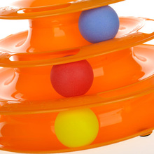 Cat Toy Round Interactive Pet Toys Three Layers Playing Interactive Puzzle Ball