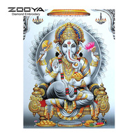 5D DIY Diamond Painting Religious Crystal Diamond Painting Cross Stitch Long Nose Elephant Needlework Home Decorative