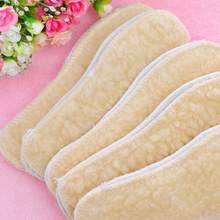 Winter Soft Warm Fleece Shoes Boots Sneakers Thermal Insoles Insert Foot Pads Men Women Warm Soft Winter insoles wholesale(China)