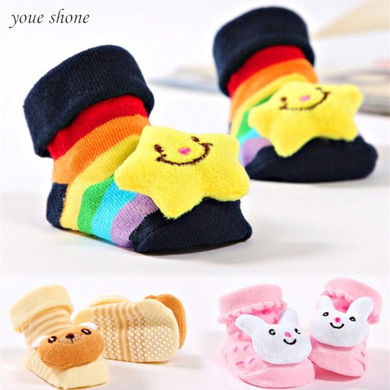 0-9 M Mooie Baby Slippers Katoenen Sokken Ontwerp Cartoon Dier Pasgeboren Baby Bebe Jongens Meisjes Kids Leuke Anti -slip Warme Waterdicht, Schokbestendig En Antimagnetisch
