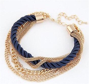Fashion Multilayer Bracelet for Women Bracelets Jewelry Women Jewelry Metal Color: blue