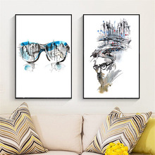 HAOCHU Canvas Art Print Decorative Painting Nordic Abstract Figure Minimalist Impression Line Home Mural Poster Picture