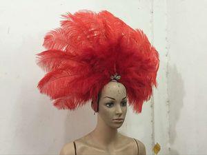 Image 4 - Accessori Di Moda squisita piume del copricapo Delicato di ballo di ballo latino Samba mostra accessori
