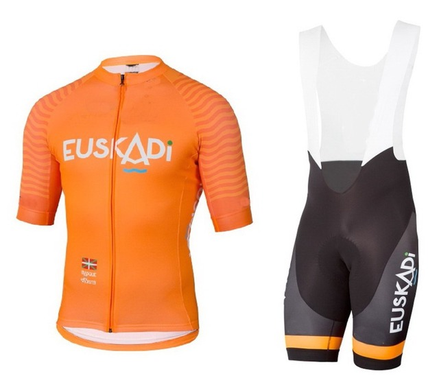 2018 EUSKADI TEAM Orange Men s Cycling Jersey Short Sleeve Bicycle Clothing  With Bib Shorts Riding Bike Clothes Ropa Ciclismo e87590acb