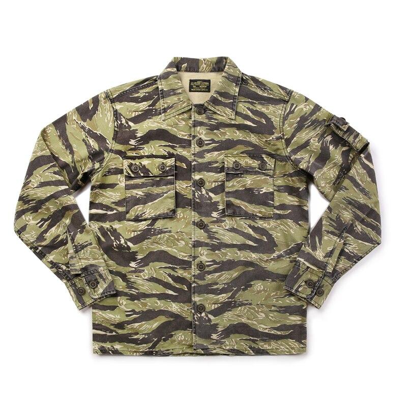 Lire la DESCRIPTION chemises à manches longues camouflage décontracté pour hommes chemise en coton vintage camouflage pour hommes