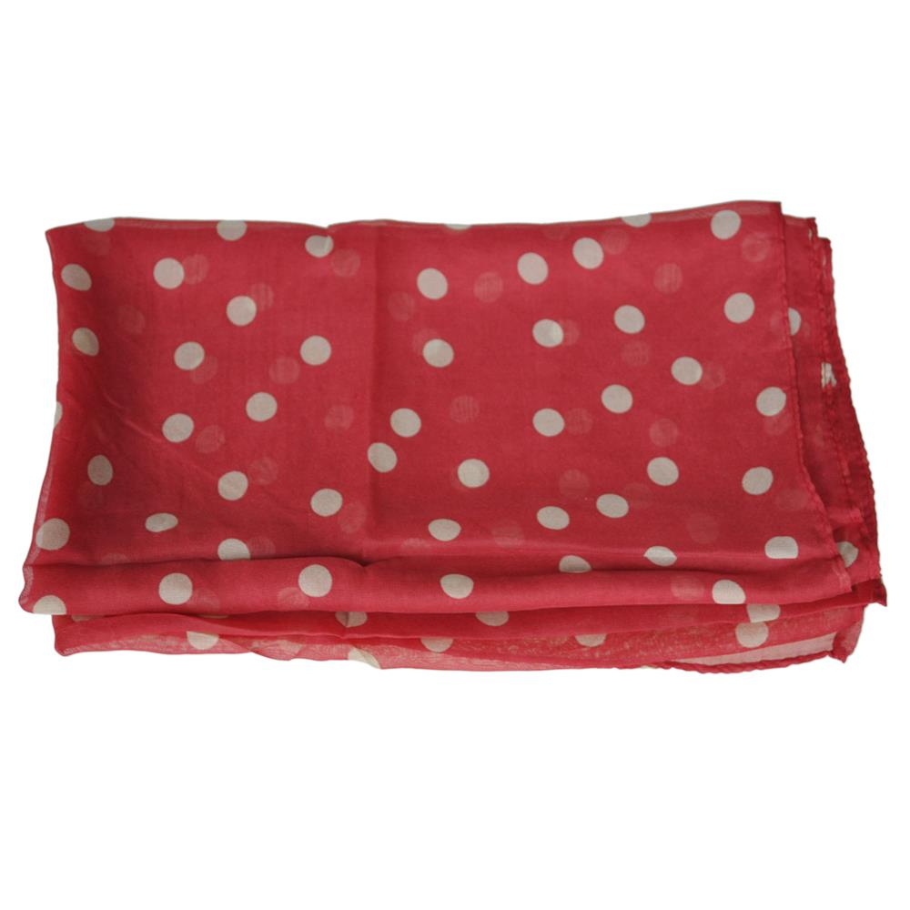 21f72fbef1 Venta caliente! moda mujer damas hermoso Polka Dot manchado mantón rojo vino