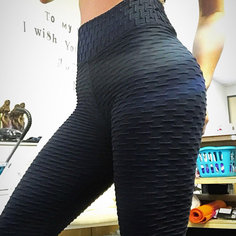 2019 New Fitness Anti Cellulite Textu Leggings Women Pants Fashion Patchwork Casual Summer Spring Soild Fitness Leggings Pants(China)