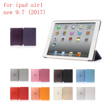 PC Leather Case for Apple iPad air new 9.7 Fashion Smart Cover + PC translucent back Cover for ipad A1474`A1475`A1476  new 9.7 for ipad air case dowswin magnetic pu smart cover for ipad air 1 pc back protective for ipad a1475 a1476 for ipad 5