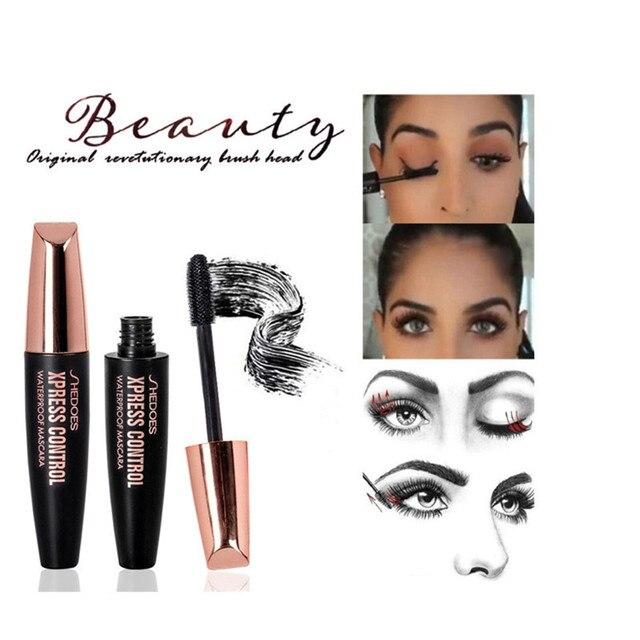 4D Silk Fiber Lash Mascara Waterproof Rimel 3d makeup Mascara For Eyelash Extension Black Thick Lengthening Eye Lashes Cosmetics 3
