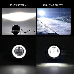 Image 3 - 3inch LED Off raod Lights Work Lamps 12V 24V 6500K 20W with Angel Eyes Lights spot fog light Car Boat Motorcycle LED Work Light