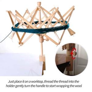 Image 3 - 1Pc Houten Garen Fiber String Wol Houder Paraplu Breien Ambachtelijke Gereedschappen Voor Patchwork Naaien Diy Accessoires