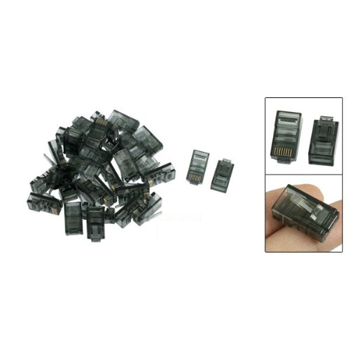 GTFS-30 Pcs 8P8C Cat5 CatE Modular Network Cable Plug RJ45 Connector