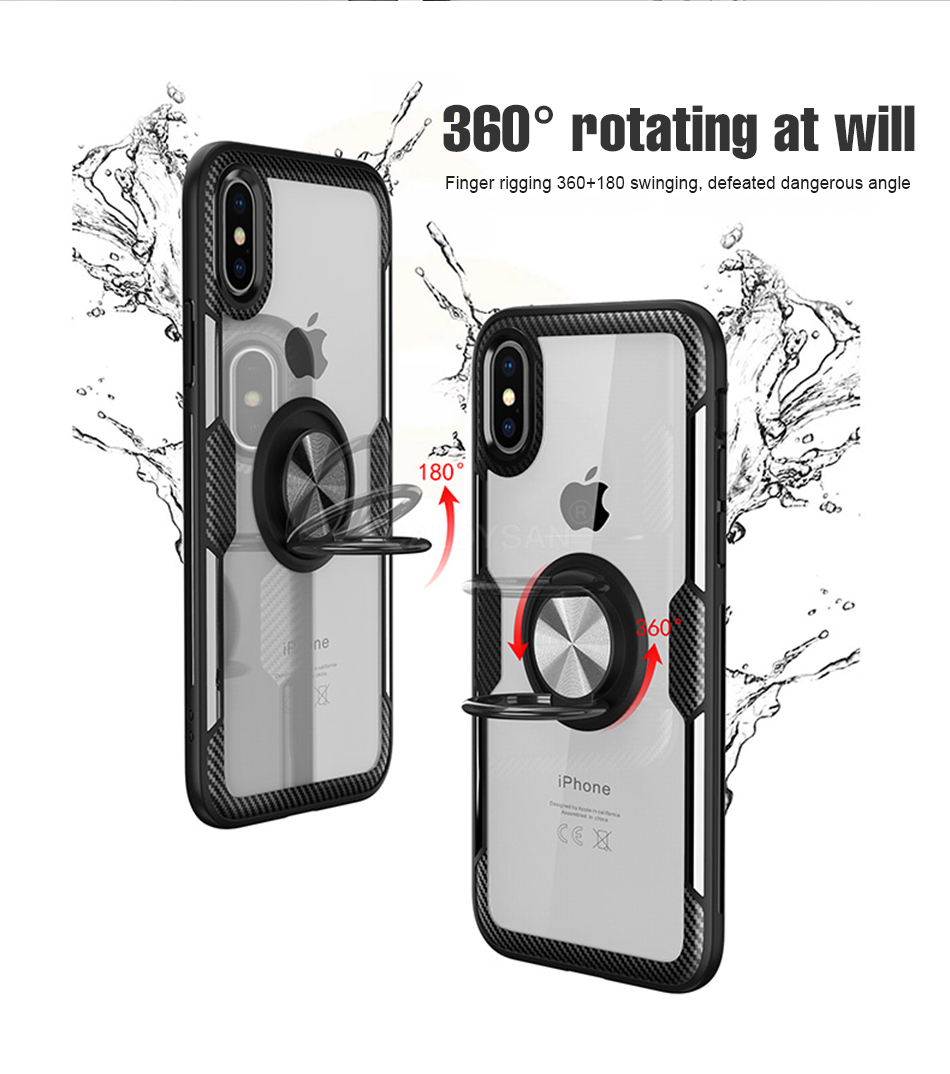 Luxury Bumper Case And Car Holder Ring Case For IPhone XS Max XR X 4