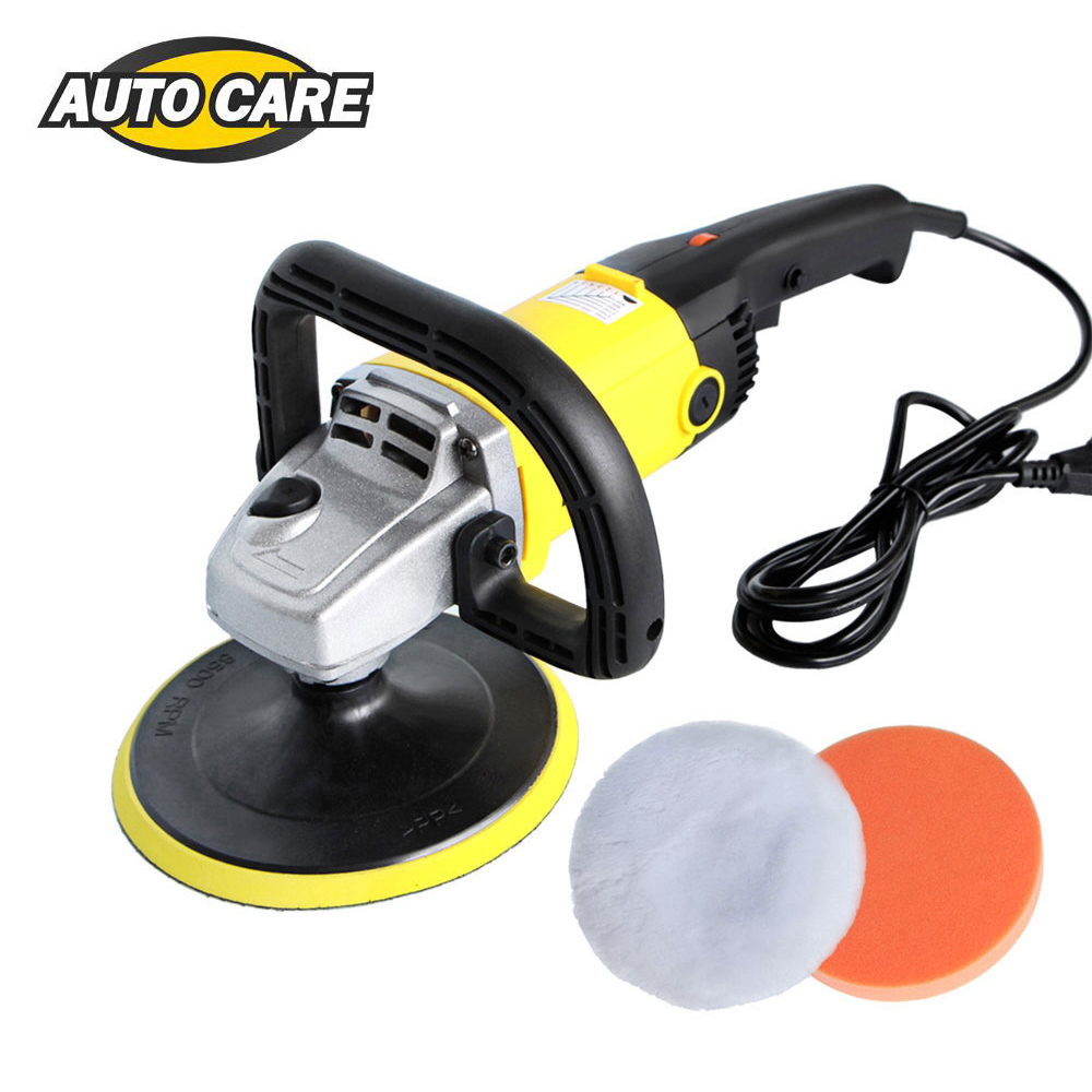 220V High Speed Car Polisher 6 Variable Speed 1200W High Power Car-polisher For Car Paint Care Polishing Waxing Free Pad Bonnet