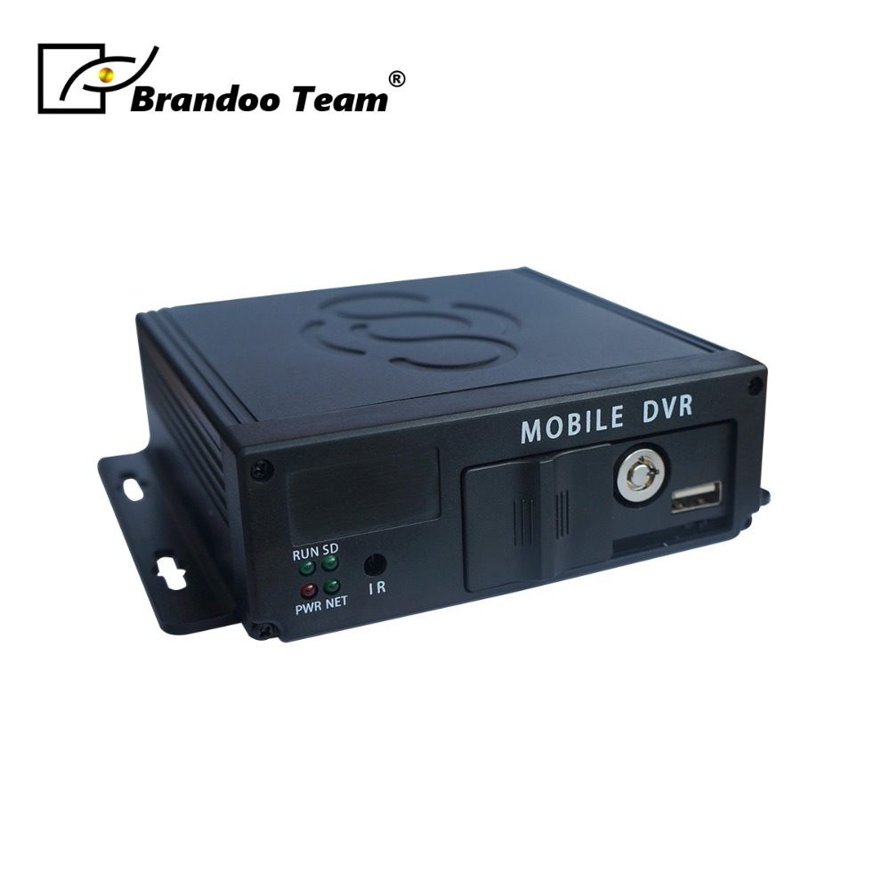 720P 4 Channel AHD SD Card mdvr support 256GB sim card 4CH Mobile DVR Russian or English Menu