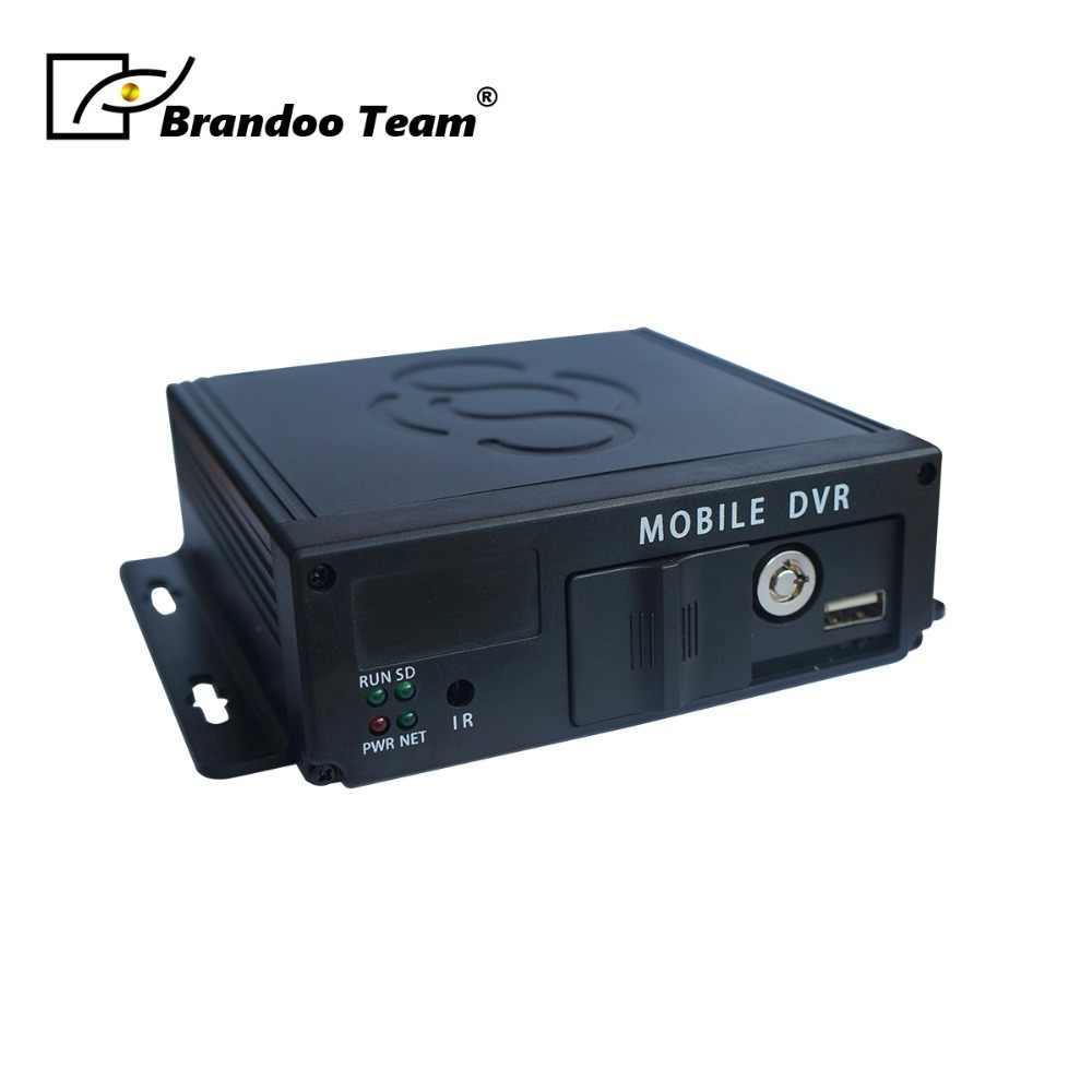 720P 4 Kanaals AHD Sd-kaart mdvr ondersteuning 256GB sim-kaart 4CH Mobiele DVR Russisch of Engels Menu