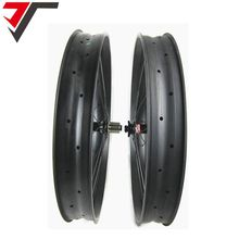TRIPS carbon fatbike bicycle wheels 26 Novatec fat bike carbon wheels hookless 26 inch snow wheelset 90mm rims carbon fat wheels(China)
