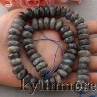 6.5x13mm Natural Faceted Labradorite Loose Beads 15 Strands