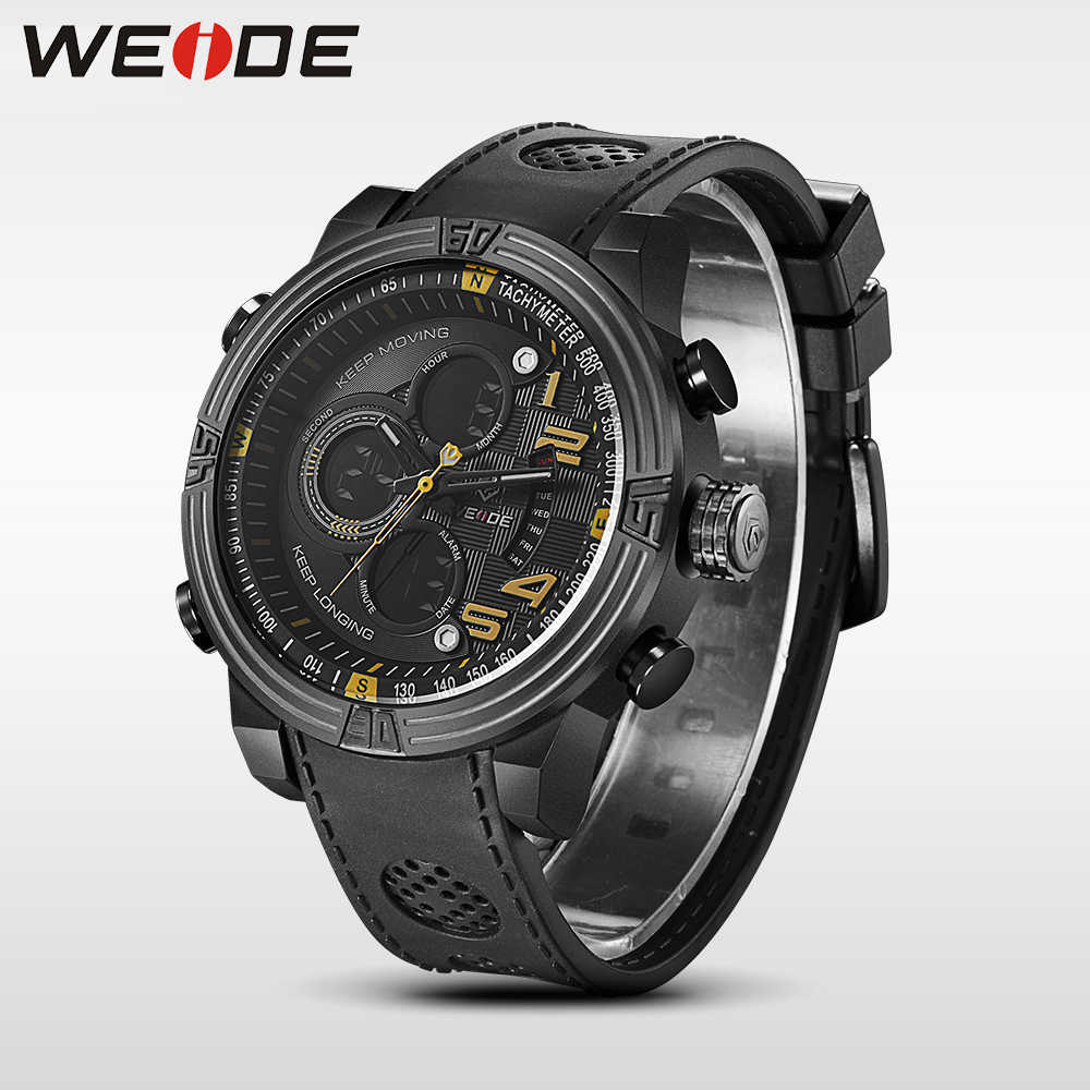 WEIDE Quartz Casual Watch Military Sports Watch Waterproof Multiple Time Zone Men Watches alarm Clock electronic wrist watches