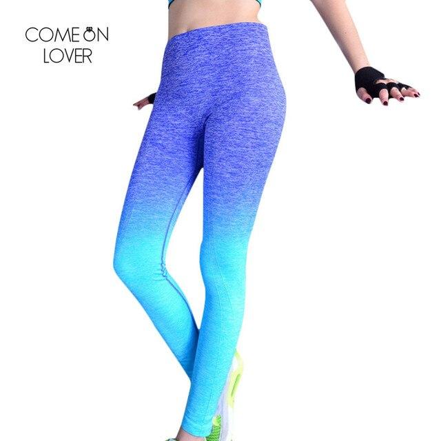 6069f78d01cad Comeonlover Women Slim Sportleggins High Elastic Comfortable Workout Pants  Gradual Change Breathable Women's Fitness Leggings