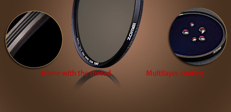 Zomei 52mm CPL Circular Polarizer Polarizing Filter for Canon Nikon Sony Camera Lens 40.5/49/52/55/58/62/67/72/77/82mm 13