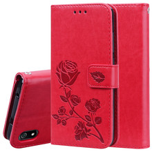 Luxury Leather Flip Case For Xiaomi Redmi 7A Case Soft TPU Back Case For Xiaomi Redmi 7A Wallet Phone Case With Card Holder cheap Edoshvchv Leather Flip Wallet Case Normal Plain Floral Animal Dirt-resistant With Card Pocket Kickstand Leather Case For Xiaomi Redmi 7A