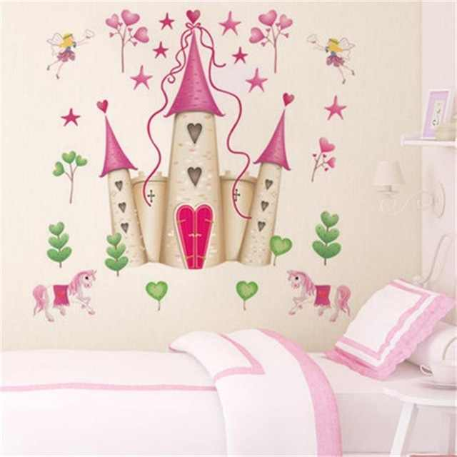 % Removable DIY Princess Castle Star Fantasy Girls Bedroom Wall Sticker Decorative Kids Baby Nursery Home Decor Decal Mural Art