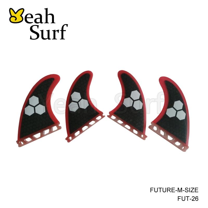 Avenir Aileron Quad K2.1 Honeycomb Surfer Nageoire Avenir aileron de planche de Surf Quihas Dans Le Surf 4 pcs/ensemble Paddle Board