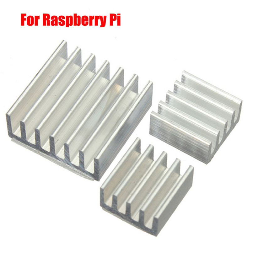 3pcs Adhesive Aluminum Heat Sink Cooler Kit For Cooling Raspberry Pi   H0T0