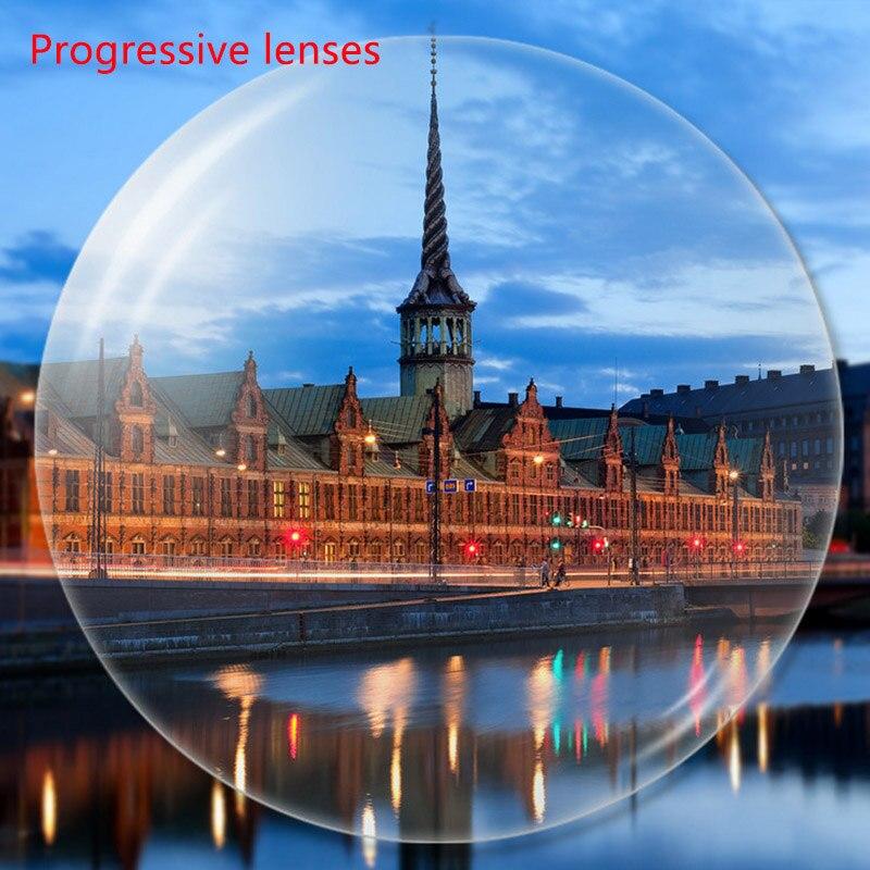 Personnalisez la lentille Progressive multifocale de lunettes de myopie de Prescription, lentilles asphériques avec la lentille Anti-rayonnement de revêtement vert