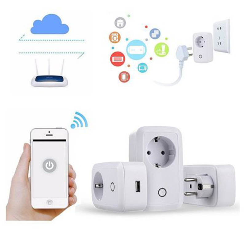 EU Plug Smart Home Automation Module Timer Diy Wifi Switch Remote Controller S20 WIFI Smart Socket  Wireless Switch