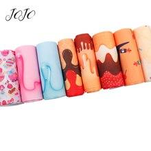 JOJO BOWS 75mm 100y Wholesale Fast Free Shipping Grosgrain Ribbon For Needlework Candy Cream Printed Tape DIY Handmade Craft