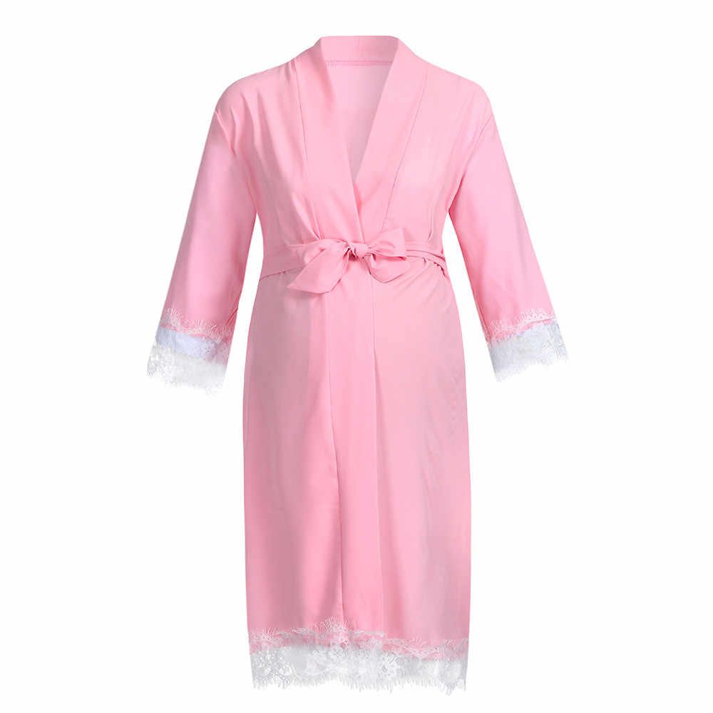 fac6c4c8d4c15 ... Pregnancy Clothes Women Maternity Dress Nursing Nightgown Breastfeeding  Nightshirt Lace Sleepwear Drop Shipping ...